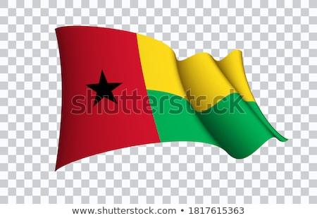 флаг Гвинея иллюстрация звездой красный волны Сток-фото © Lom
