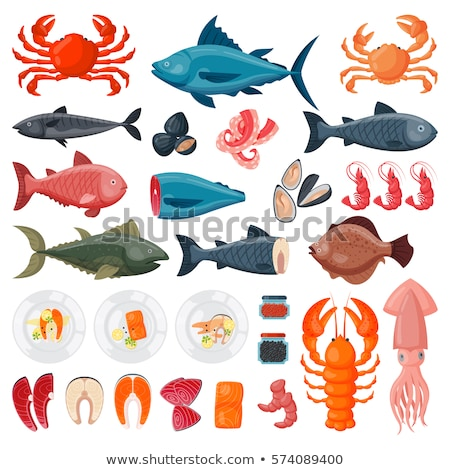 Flounder. Marine Food Fish Stock photo © ConceptCafe