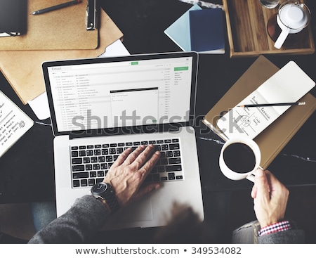 Email Marketing on wooden table Stock photo © fuzzbones0