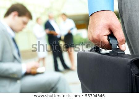 Blue attache case Stock photo © bluering