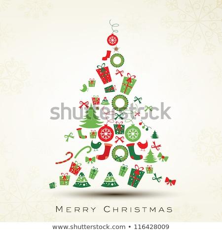 christmas card with lights eps 10 stock photo © beholdereye