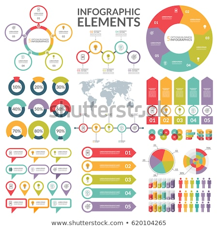Infographic with piechart and business people Stock photo © bluering