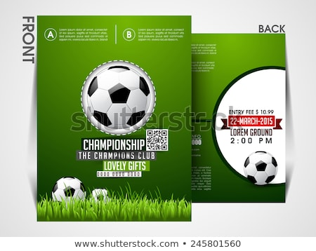 football championship trophy flyer brochure template Stock photo © SArts