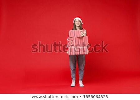 красивой · брюнетка · внутри · шкатулке · портрет · молодые - Сток-фото © deandrobot