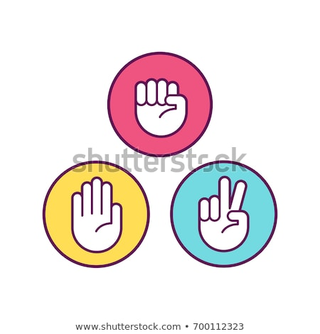 Stock photo: Rock Paper Scissors game