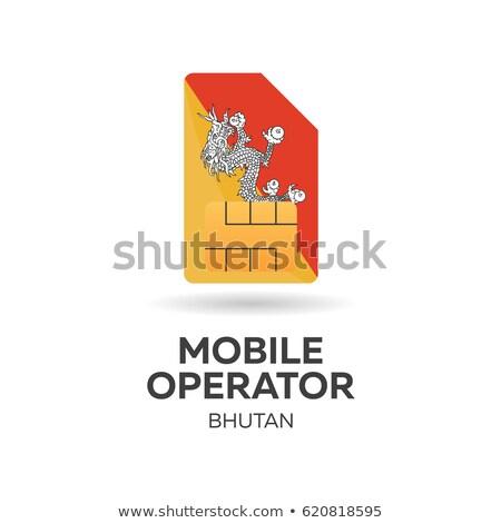 mobil · kezelő · kártya · zászló · absztrakt · terv - stock fotó © Leo_Edition