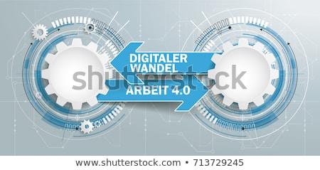 Gear schematic vector illustration Stock photo © m_pavlov