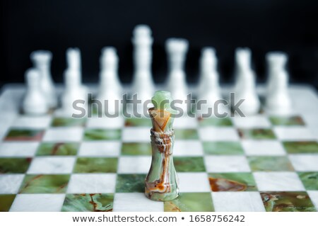 Falar dois peças de xadrez negócio poder sucesso Foto stock © Fisher