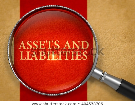 Assets and Liabilities through Magnifying Glass. Stock photo © tashatuvango