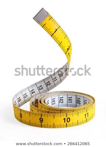 Amarelo flexível fita métrica close-up progresso Foto stock © IS2