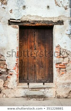 コロニアル · 壁 · ドア · 青 · スペイン語 · スタイル - ストックフォト © thp