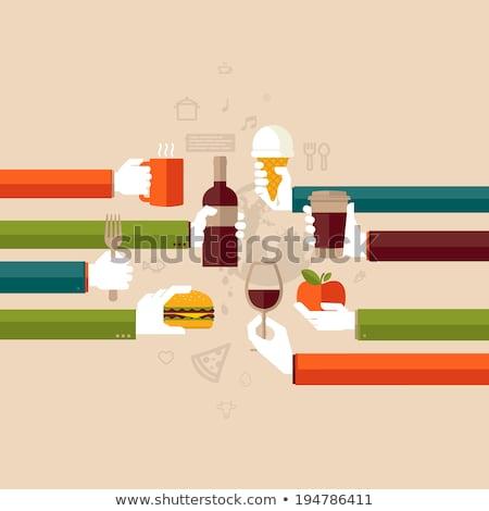 international fast food market concept Stock photo © alexmillos