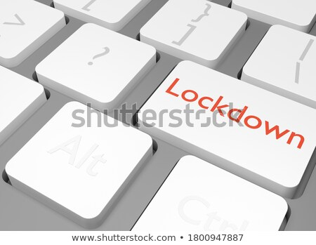Analyse texte blanche clavier bouton 3D Photo stock © tashatuvango
