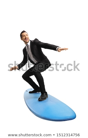 happy surfer in action on a surf board stock photo © rastudio