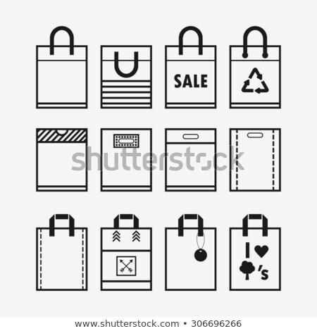 мешок икона различный стиль вектора символ Сток-фото © sidmay