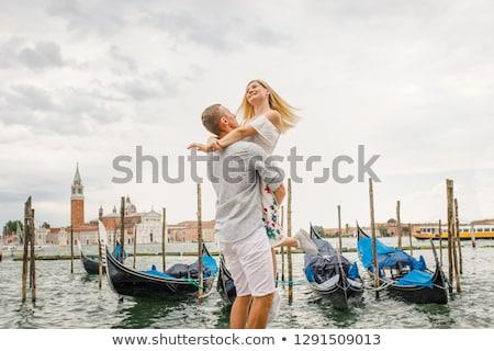 ヴェネツィア カップル 徒歩 女性の笑顔 ロマンス ストックフォト © IS2
