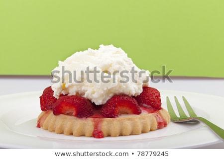Aardbei taart eettafel Stockfoto © IS2