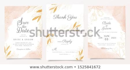 Invitation de mariage carte modèle couleur pour aquarelle texture mariage Photo stock © SArts