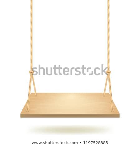 Swing sede primo piano vuota rosolare legno Foto d'archivio © hamik