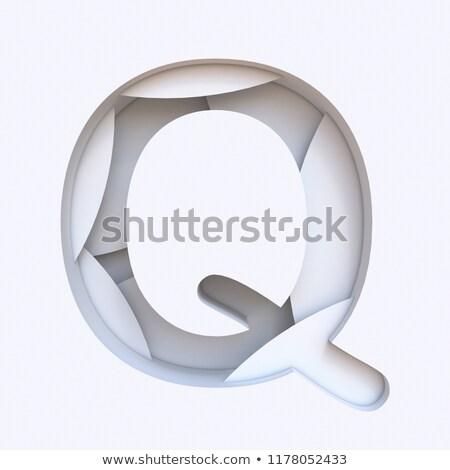 Branco abstrato camadas fonte letra i 3D Foto stock © djmilic