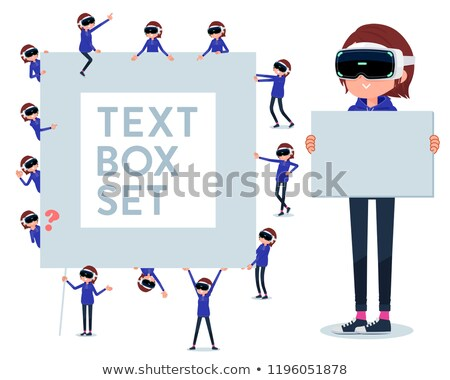 flat type VR goggle women_text box Stock photo © toyotoyo