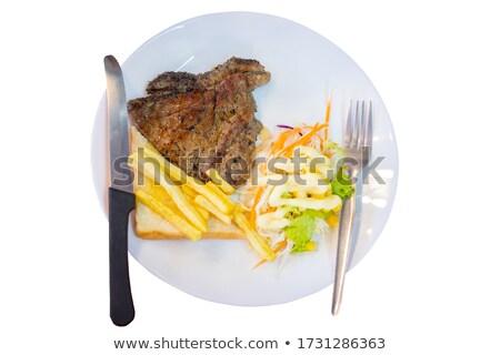 Aardappel vork geheel gebakken alleen Stockfoto © maxsol7