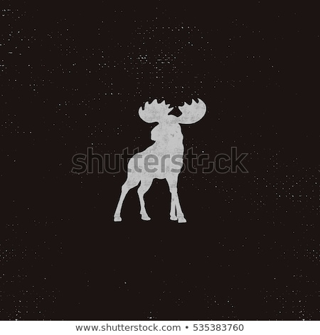 Deer With Tree Antlers Mascot Stock photo © patrimonio