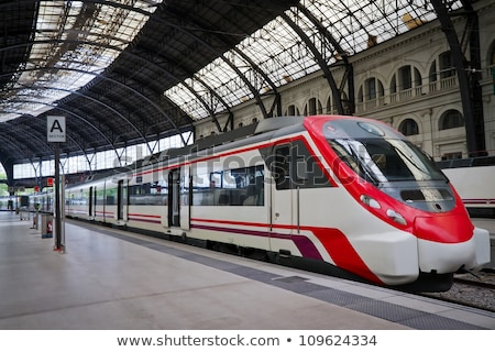 modern trains on train station stock photo © vapi