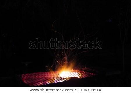 lángok · tábortűz · éjszaka · tűz · fa · absztrakt - stock fotó © brianguest