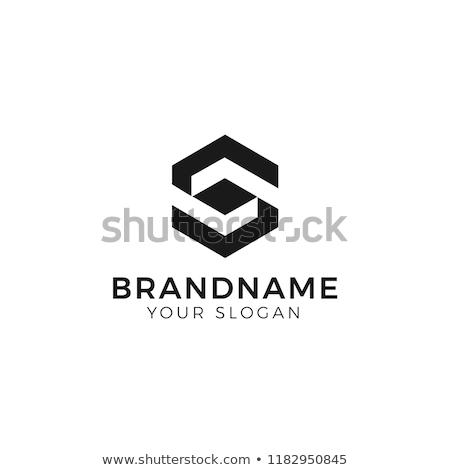 ロゴ · 手紙 · 黒 · ロゴタイプ · ベクトル · にログイン - ストックフォト © blaskorizov