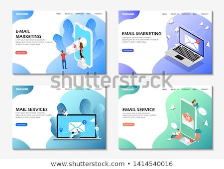Spam lądowanie strona biznesmenów reklamy phishing Zdjęcia stock © RAStudio