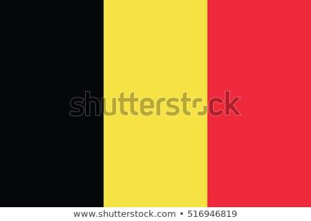 フラグ ベルギー 白 ビッグ セット 中心 ストックフォト © butenkow