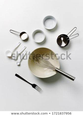 blanco · negro · siluetas · alimentos · negro · silueta · acero - foto stock © colematt