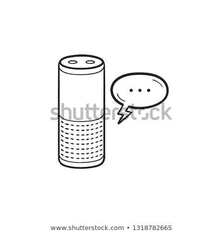 Discurso reconocimiento dibujado a mano garabato icono Foto stock © RAStudio