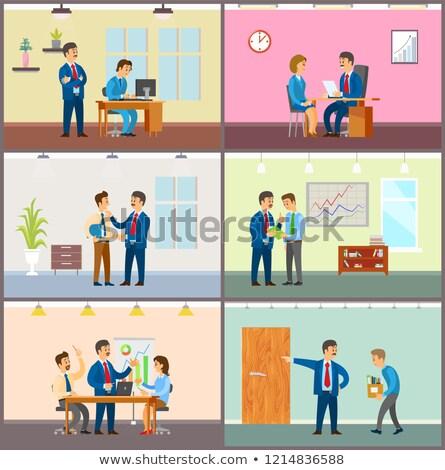supervisor of company with novice boss in office photo stock © robuart
