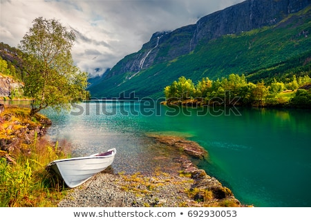 Summer landscape with a mountain view, Norway Stock photo © Kotenko