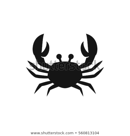 Crab Silhouette Isolated Vector Illustration Stock photo © jeff_hobrath
