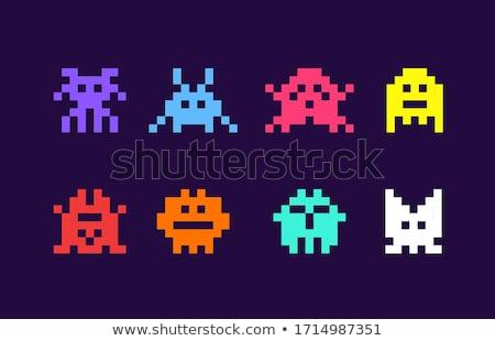 Superhero Пиксели искусства игры Сток-фото © Krisdog