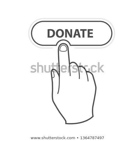 Finger press Donate button - charity and crowdfunding concept ic Stock photo © Winner