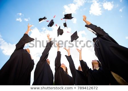 Liceum ukończeniu latać w górę odizolowany Zdjęcia stock © orensila