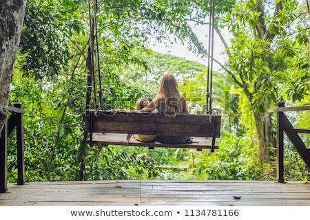 ママ スイング 熱帯 庭園 男 ストックフォト © galitskaya