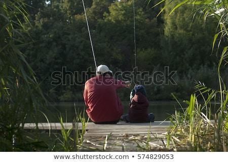 отцом · сына · рыбалки · реке · лес · человека · мальчика - Сток-фото © lopolo
