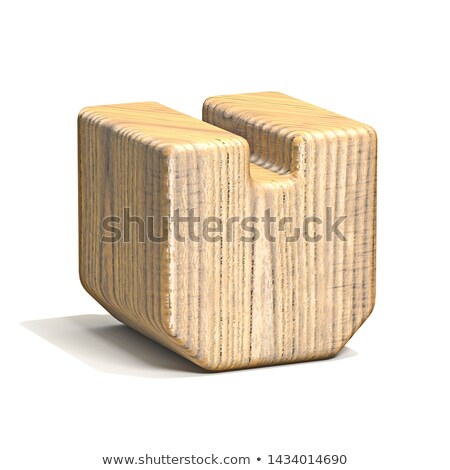 Solid wooden cube 3D Stock photo © djmilic