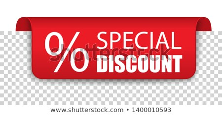 Special Discount Red Covert Marker Banner Transparent Stock photo © limbi007