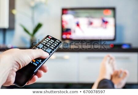 Disabili uomo guardare sport tv televisione Foto d'archivio © Elnur