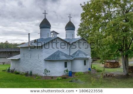 church of the intercession and nativity pskov stock photo © borisb17