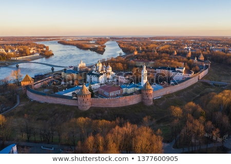 belfry of St. Sophia Cathedral, Veliky Novgorod Stock photo © borisb17