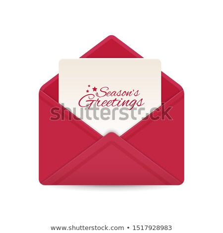 white holiday card envelope stock photo © jsnover