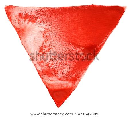 Rot Wasserfarbe Dreieck Wasserfarbe weiß zurück Stock foto © prill