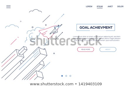 Leadership concept - colorful isometric vector web banner Stock photo © Decorwithme